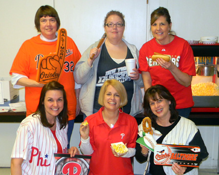 Some of the SWAN staff welcomed spring by hosting a Season Opening Luncheon themed around everything baseball!